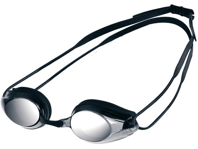 arena Tracks Mirror Goggles, black-smoke silver-black